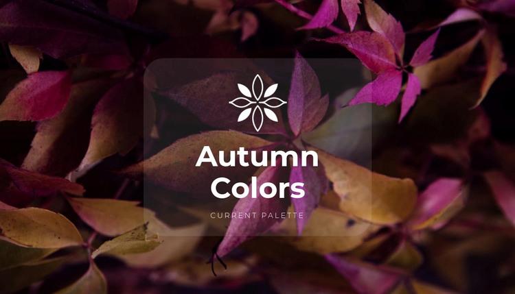 Bright fall colors WordPress Theme