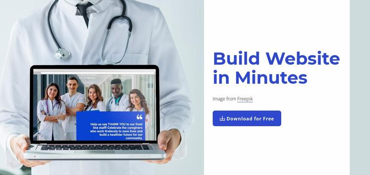 Build websies in minutes Landing Page