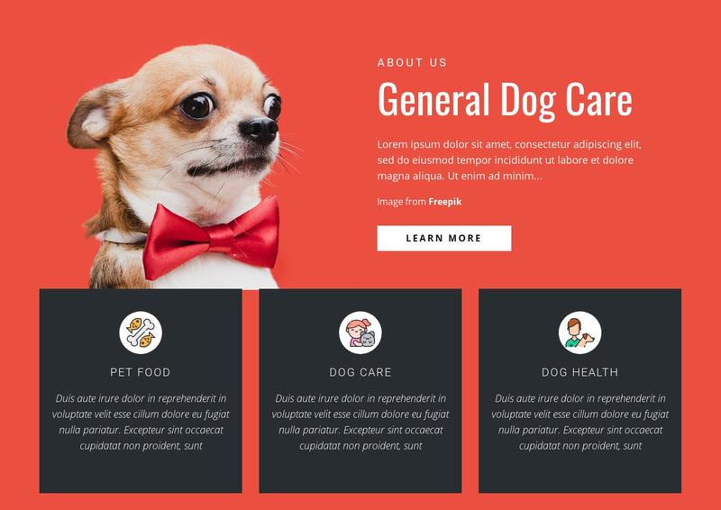 General Dog Care Web Page Design