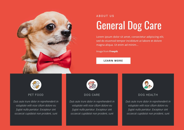 General Dog Care WordPress Website Builder