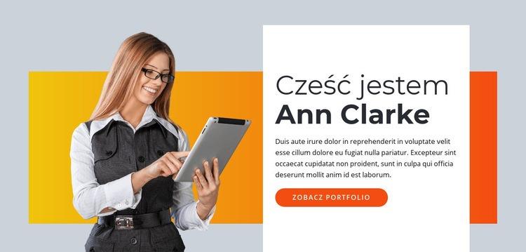 Wirtualny asystent niezależny Szablon witryny sieci Web