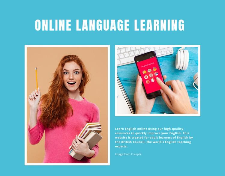 Online English Learning Website Mockup