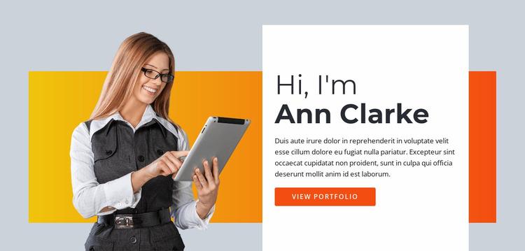 Freelance virtual assistant Website Mockup