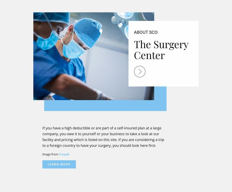 The Surgery Center Website Template