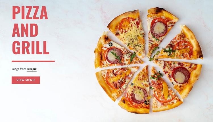 Pizza and Grill One Page Template