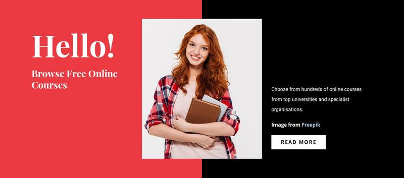 Free Online Courses Website Creator