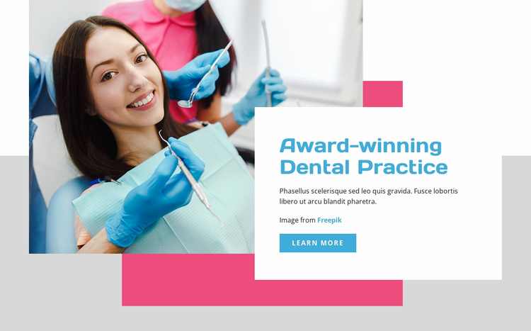Dental Practice Website Template