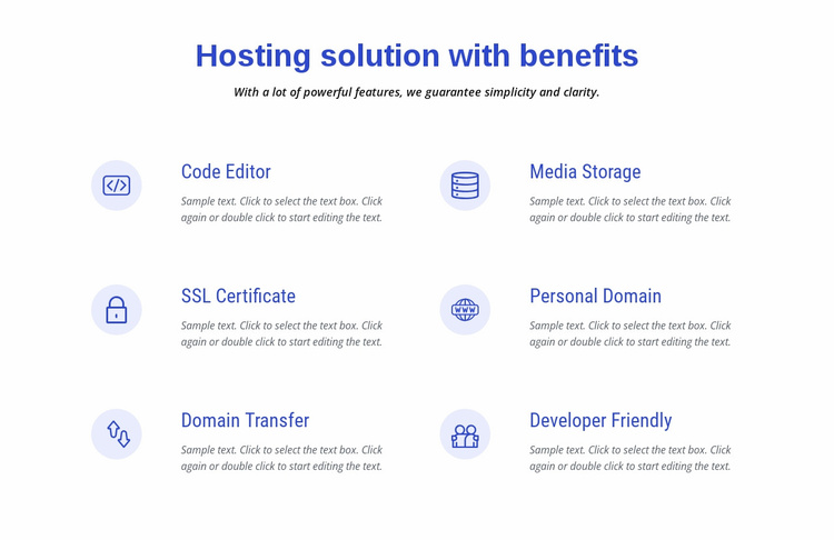 Cloud hosting solutions Landing Page