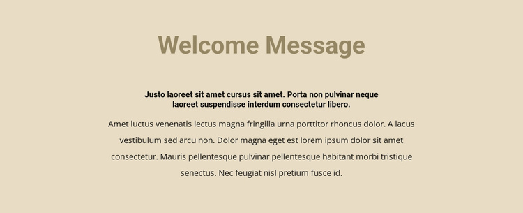 Text on beige background Website Template