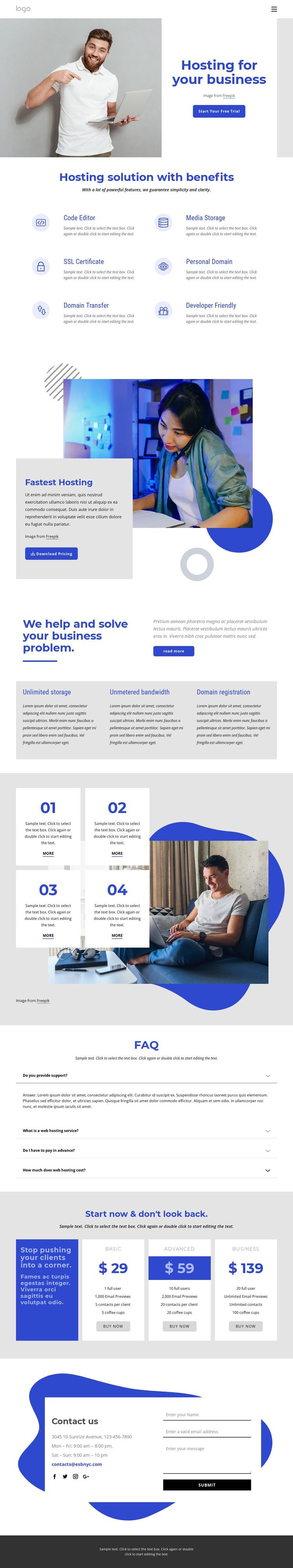 Web hosting company HTML Template