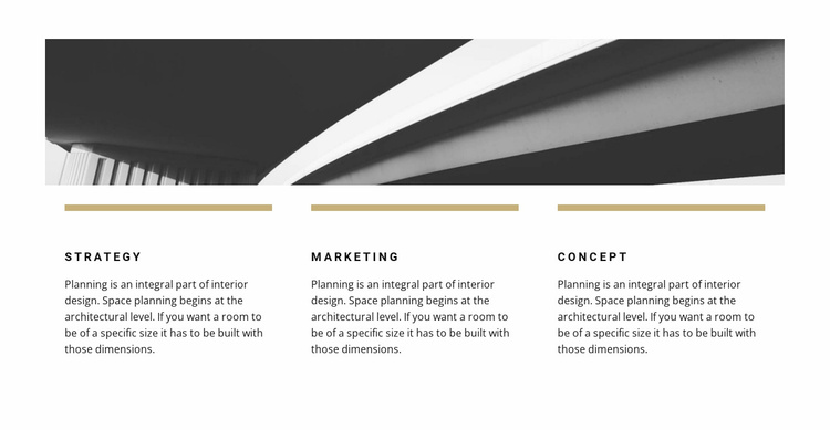 Photo and three points Website Template