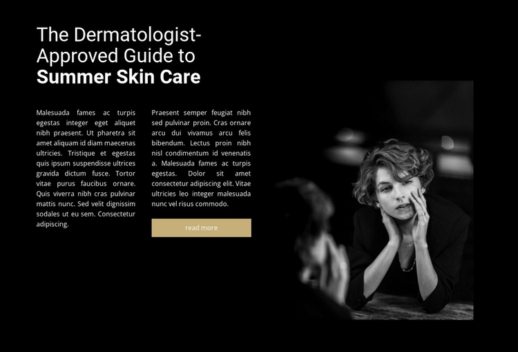 Cosmetologist and consultation Website Template