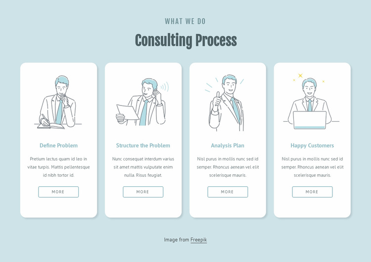 Consuting process Website Template
