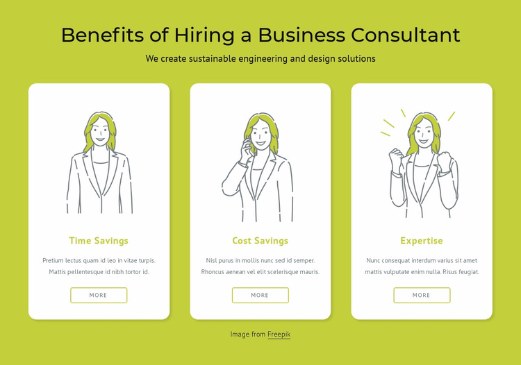 Benefits of hiring a business consultant Website Template