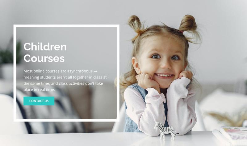 Children courses Web Page Design