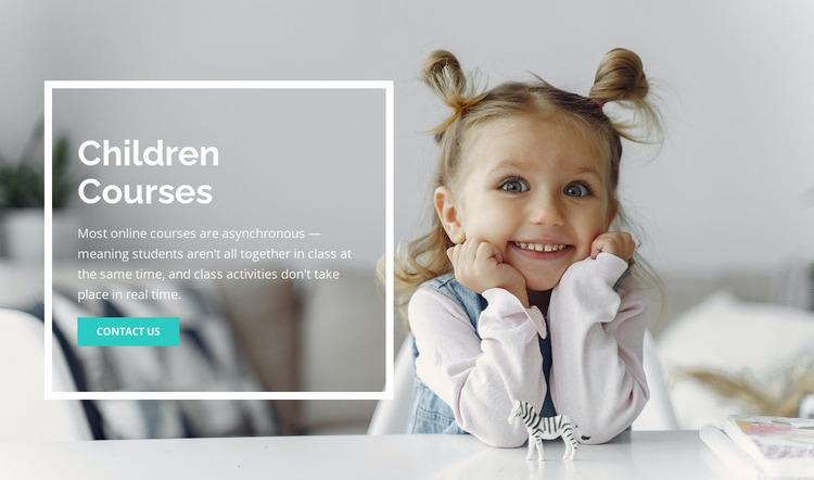 Children courses Website Mockup