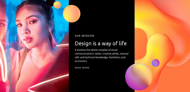 Design is the way of life Website Template