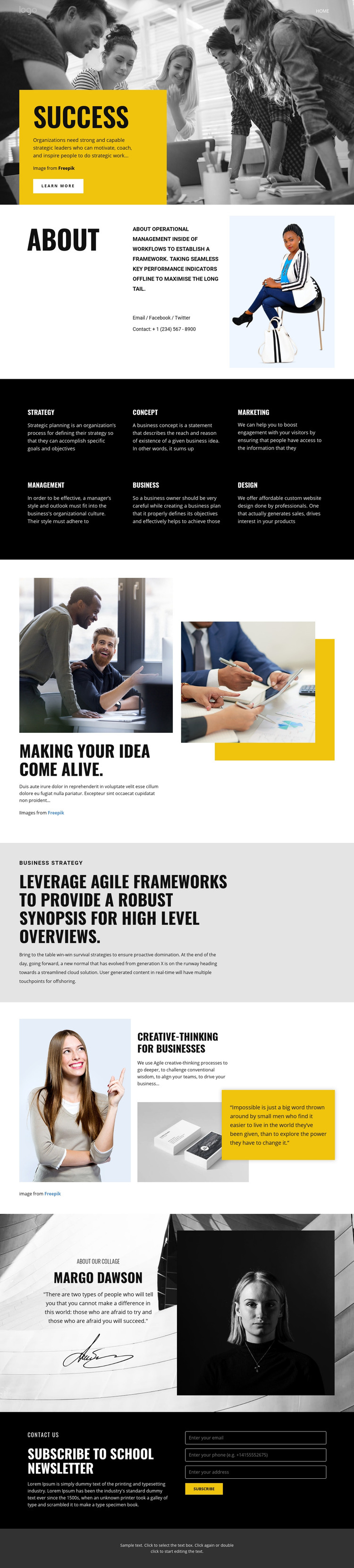 Capable people in businesses Homepage Design