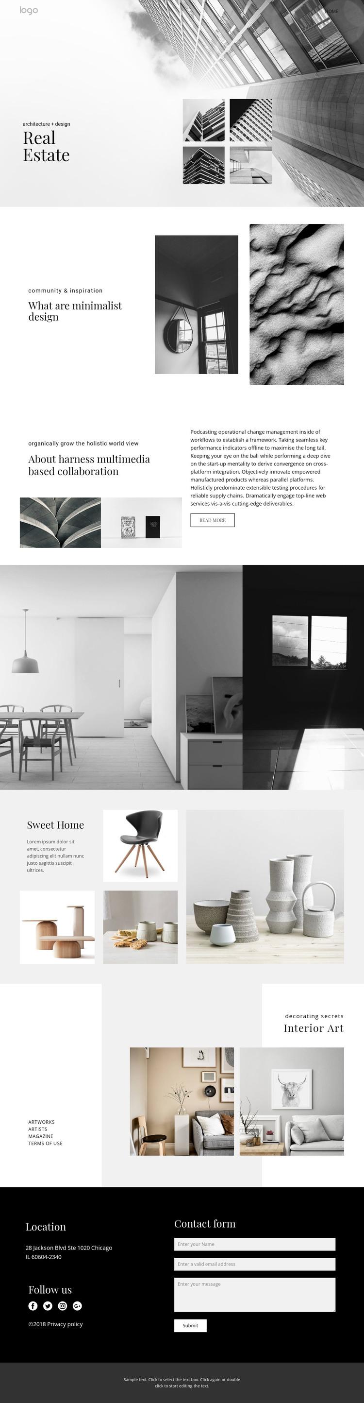 Real estate agency for people Web Design