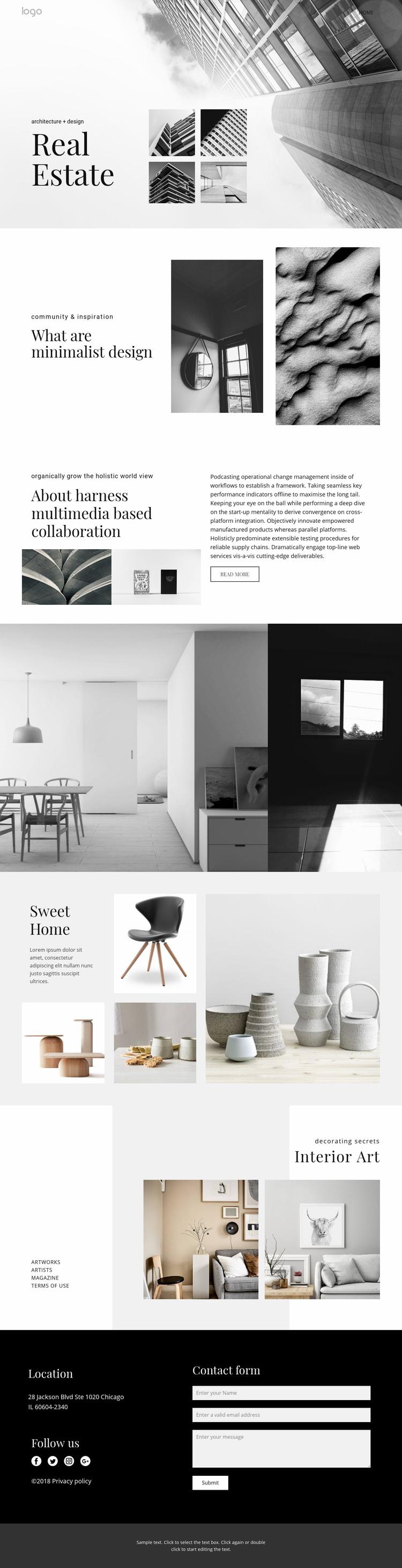 Real estate agency for people Web Page Designer