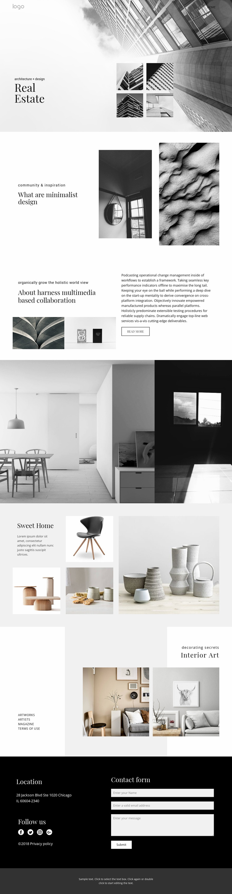 Real estate agency for people Website Mockup