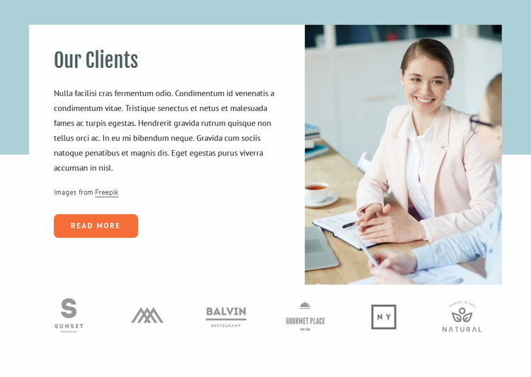 About our clients Website Template