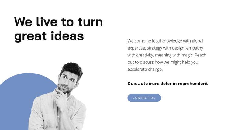 Generating ideas HTML Template