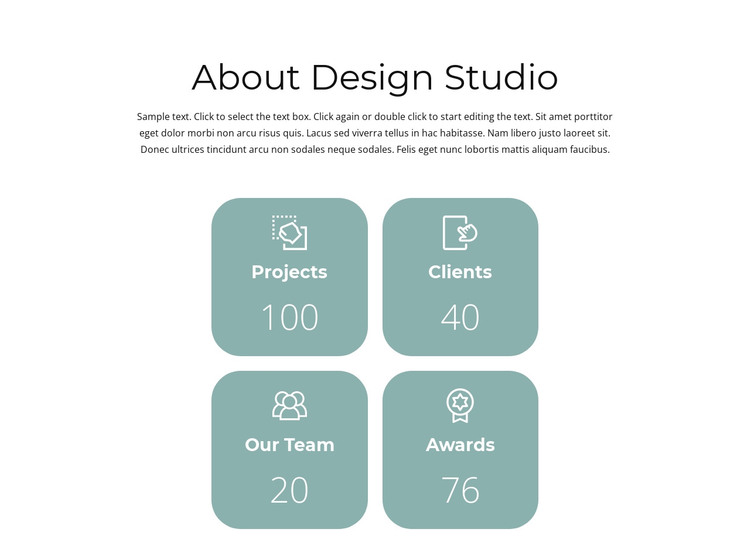 Results of the year HTML Template