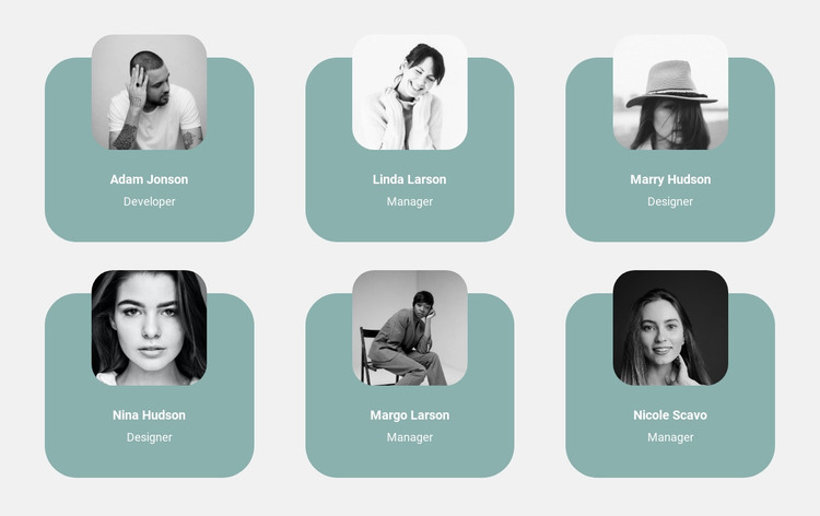 Six users HTML Template