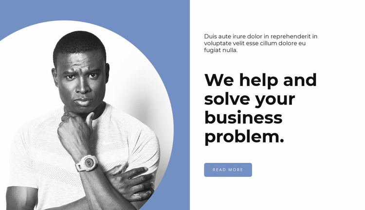 Helps solve problems Website Template