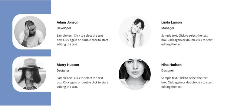 Four members HTML Template