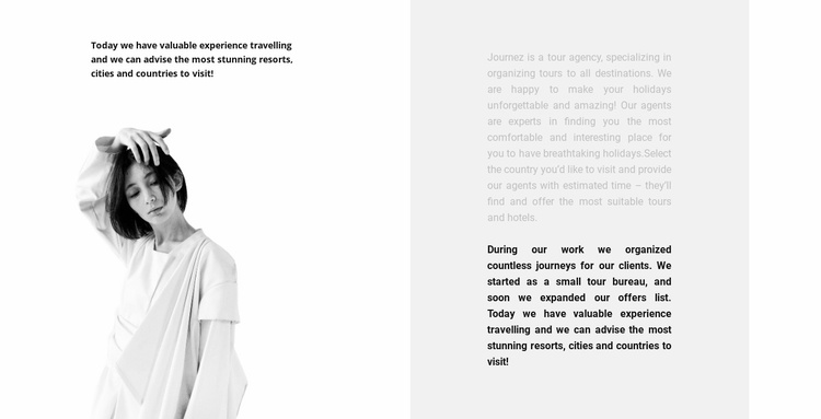 Style and inspiration Website Template