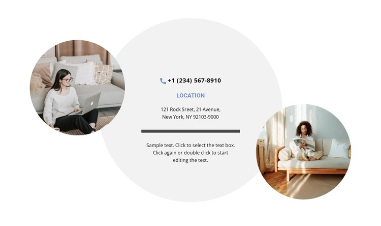 Contacts and two photos CSS Template