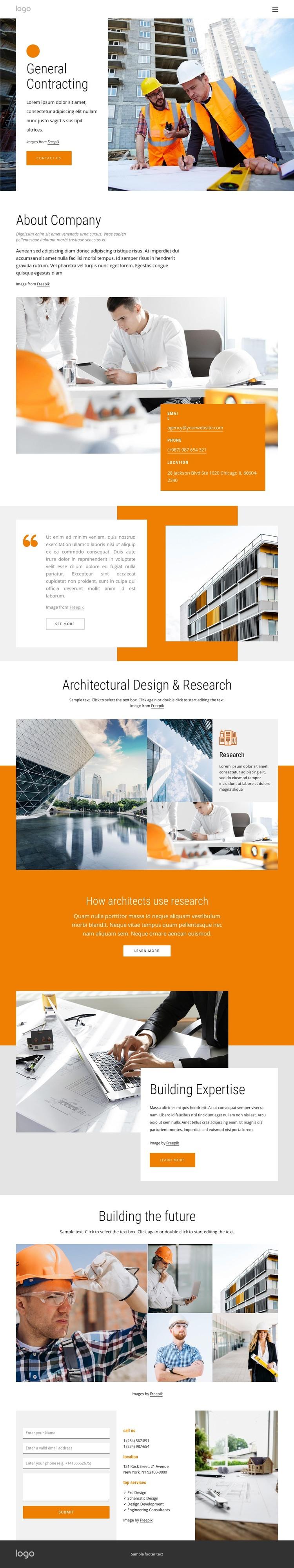 Full-service general contractor Web Design