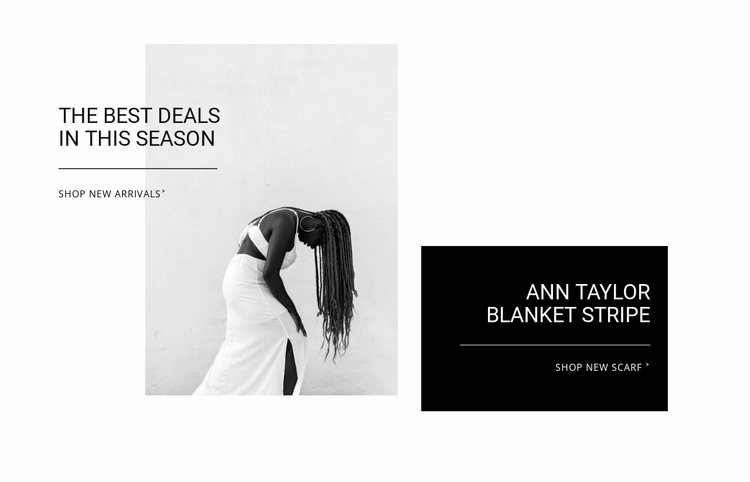 The best deals Website Template