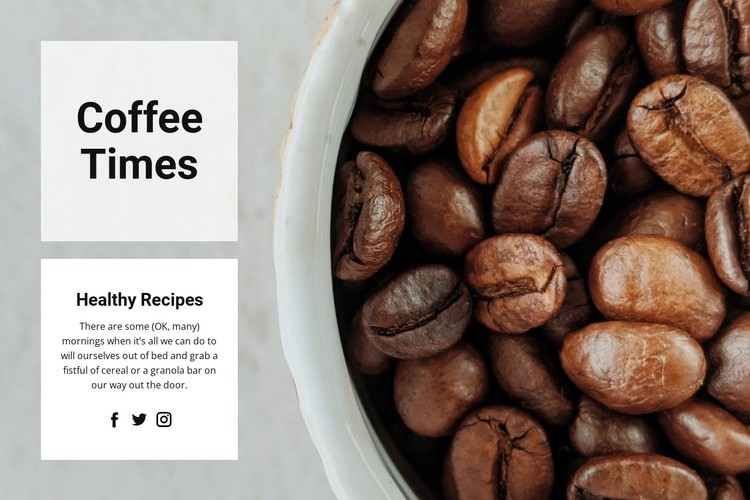 Best quality grains CSS Template