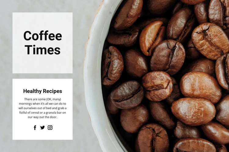 Coffee time Html Website Builder