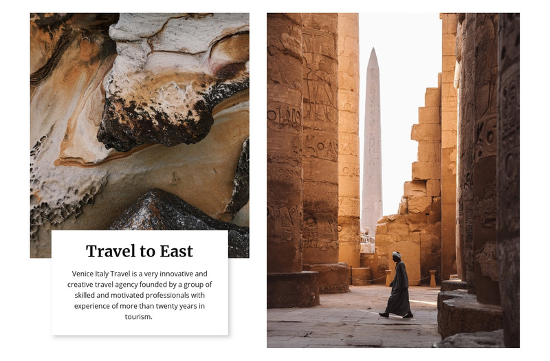 Travel to east Web Page Design