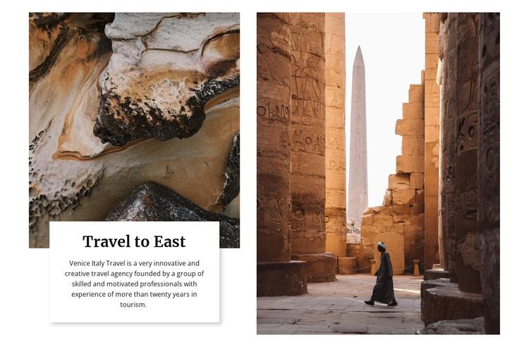 Travel to east WordPress Theme