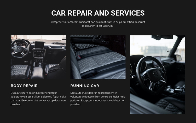 Car repair One Page Template
