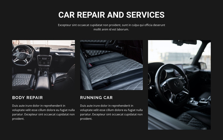 Car repair Web Design