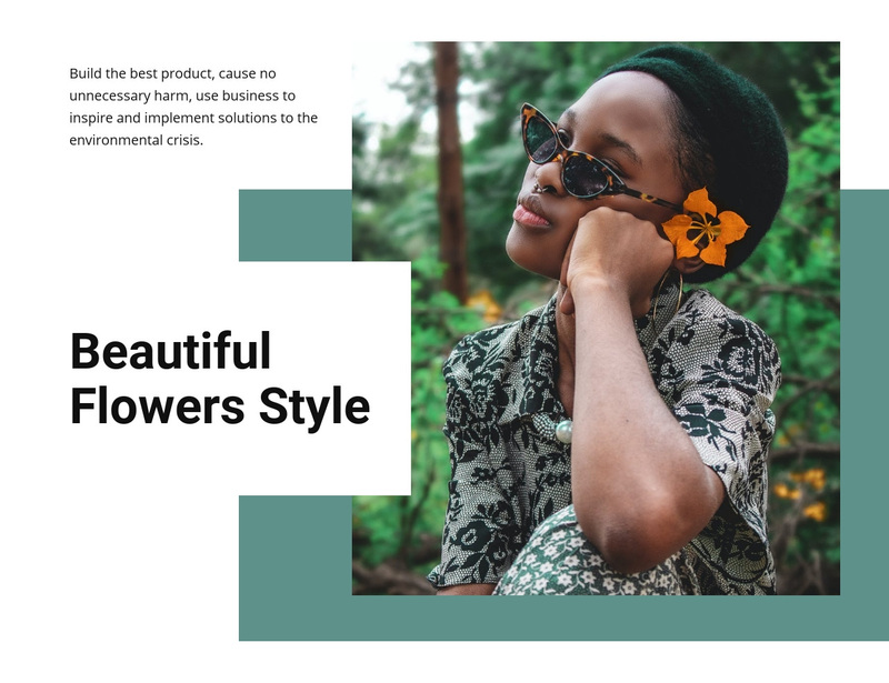 Flowers style Web Page Design