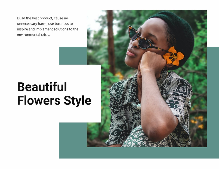 Flowers style Landing Page
