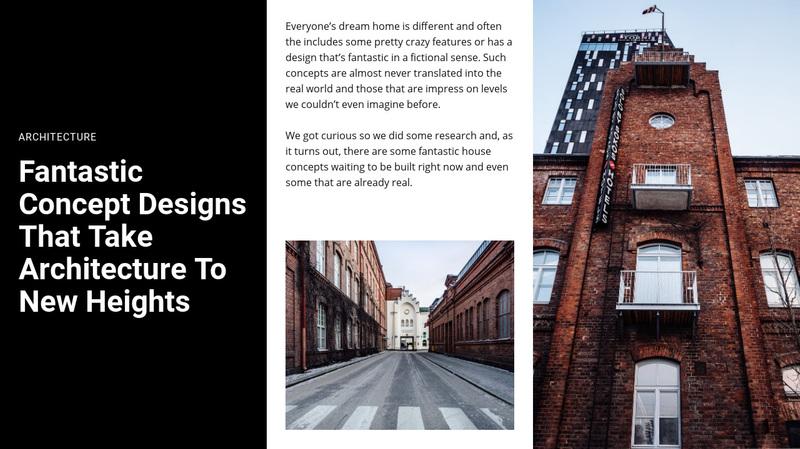 Concept design Web Page Design