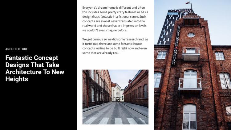 Concept design Website Template