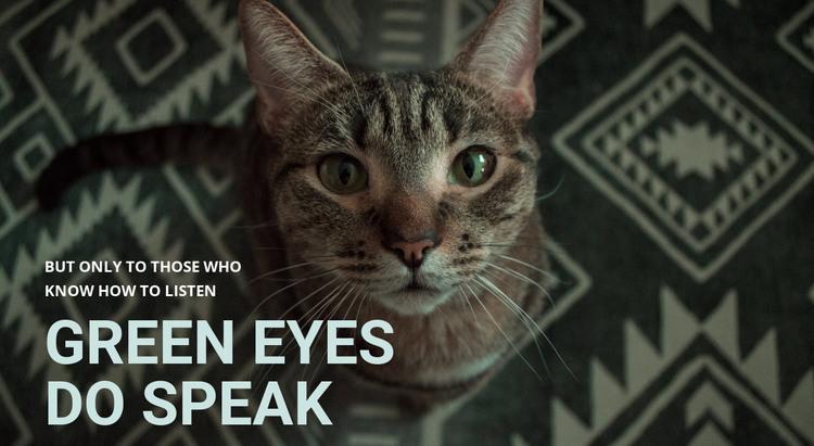 Green eyes do speak HTML Template