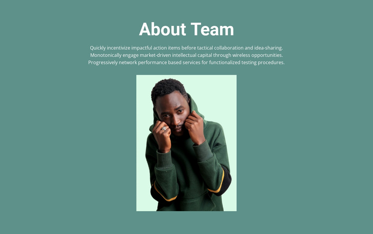 About business team Website Template