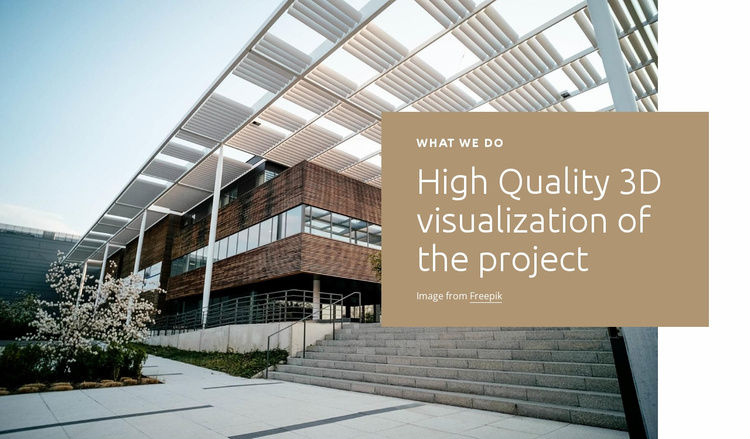 3d visualization Website Template