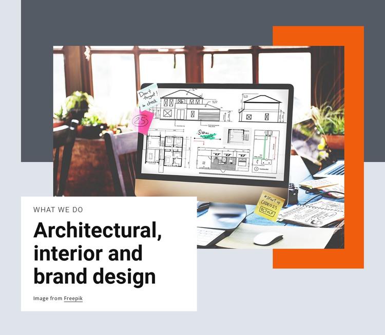 Architectual and brand design HTML Template