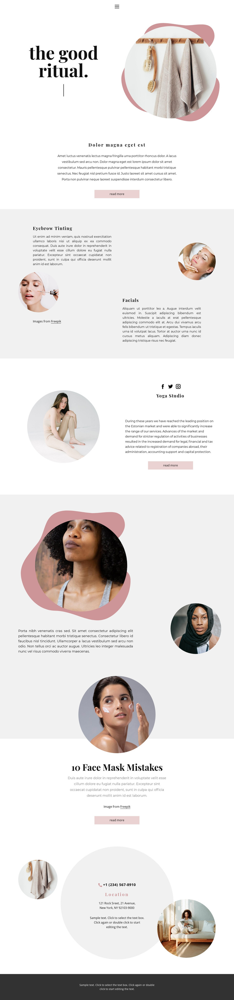 Spa rituals at home HTML5 Template